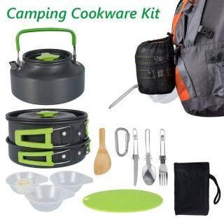 Nồi Cắm Trại Cắm Trại Dã Ngoại Cookware Kit, Bộ Nấu Ăn Ngoài Trời, Chảo Nồi Cắm Trại Di Động Dụng Cụ Nấu Ăn Đồ Nấu Nướng Cắm Trại Đồ Nấu Nướng Kit Bộ Dụng Cụ Nấu Ăn Dã Ngoại Ngoài Trời thumbnail