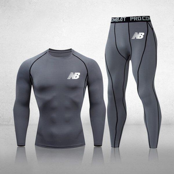 Newly Listed 3-Piece Compression Suit Mens Quick-Drying Suit Clothes Sports Running MMA Jogging Gym Exercise Fitness Clothes