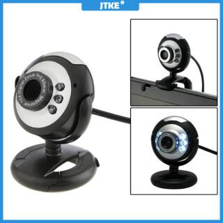 Webcam HD Kỹ Thuật Số JTKE USB 2.0 Camera Máy Tính Camera Web 6 Đèn LED 30.0 Mega Pixels Có Micrô, Dành Cho Skype, Dành Cho Máy Tính Xách Tay PC thumbnail