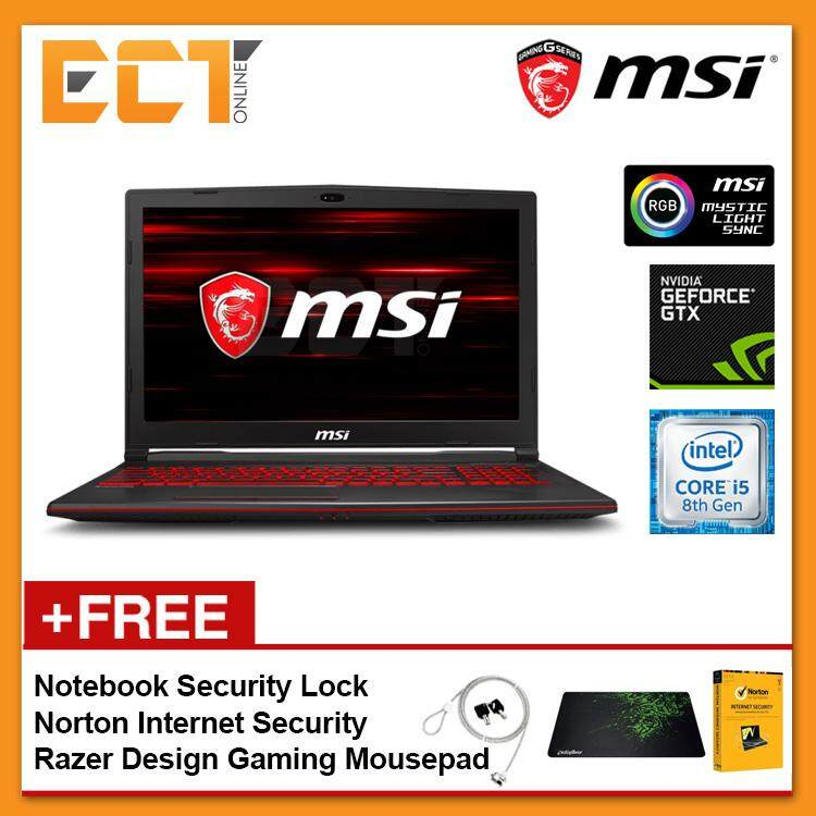 MSI GL63 8RC-689 Gaming Laptop (i5-8300H 4.00GHz,1TB,4GB,GTX1050-4G,15.6 FHD,W10P) Malaysia