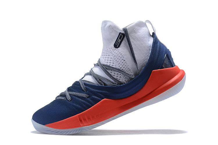 92184e1c7ab9 Under Armour Official Curry 5 Mid Top MEN Basketaball Shoe Black White  Global Sales