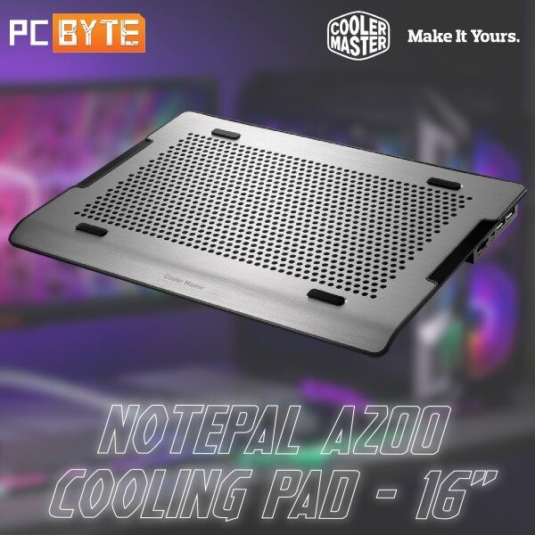 Cooler Master NOTEPAL A200 - Cooling Pad up to 16 Support Malaysia