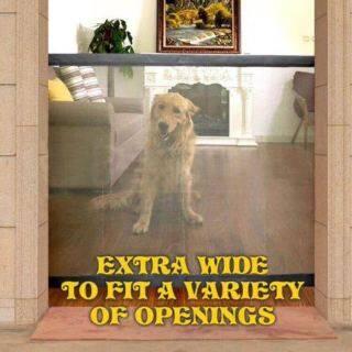 YUNYUAN Pet Dog Cat Cách Ly Net Di Động Gấp Lưới Cách Ly Phòng Ngủ Ban Công Cổng Chó Thoát Khỏi Cú Đấm Hàng Rào An Toàn Trong Nhà Cột Hàng Rào Cách Ly Chống Lại Lưới Hàng Rào Vách Ngăn thumbnail