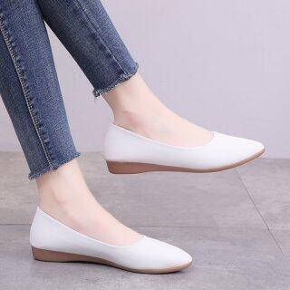 Ladies work shoes, single shoes women, 2019 new women s shoes, summer and autumn, Korean version, pointed toe, pumps, flat shoes, women s, simple, peas shoes thumbnail