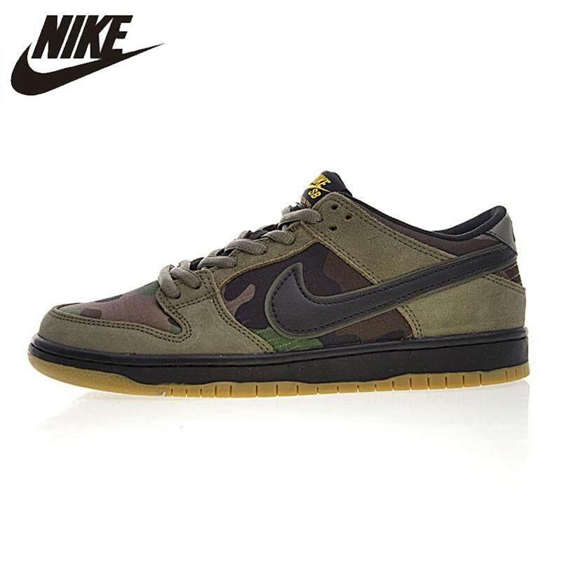 Sepatu Basket Top Asli Nike_SB_Zoom_Dunk_Low PRO Pria Sepatu Skateboard Tahan Sejuk Hijau Tentara Olahraga Sepatu