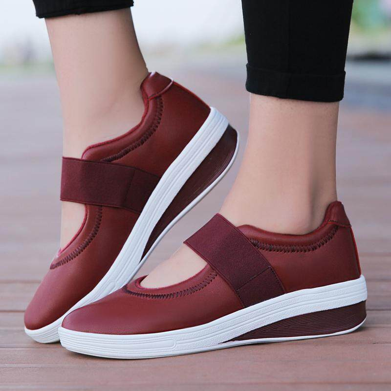 7bbbefb8158 Woman Flats Platform Spring New Mesh Breathable Slip on Shoes Woman Thick  Bottom Sole Footwear Big