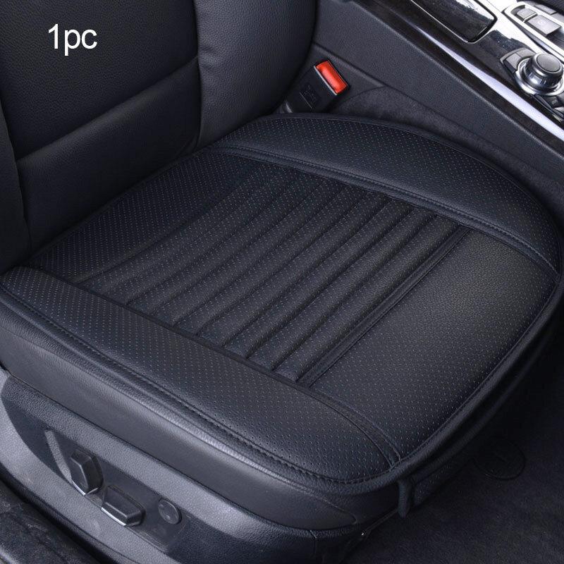 1PC Car Auto Seat Cover Front Cushion Black PU+White Line Car Chair Accessories