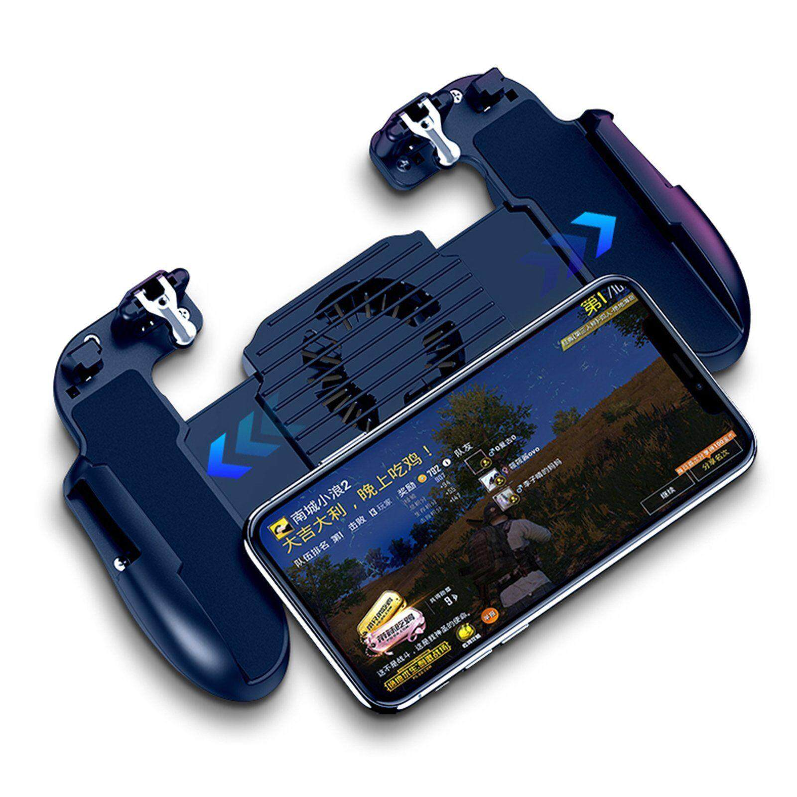 SC For PUBG Mobile iOS Android Controller Gamepad with Cooling Fan Gaming  Trigger
