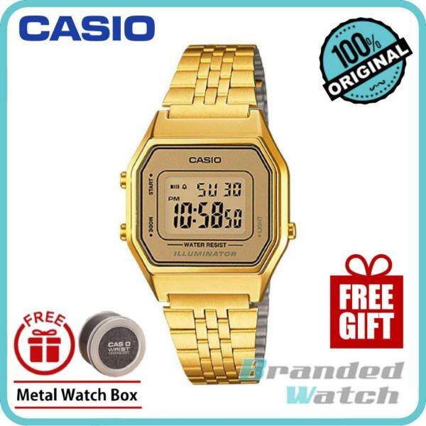 Casio LA680WGA-9DF Womens Vintage Digital Gold Steel Watch LA680WGA-9D Malaysia
