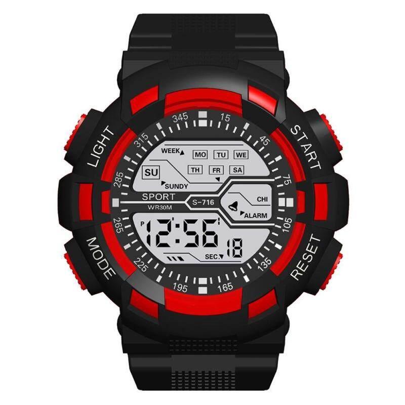 Đồng hồ nam thể thao kỹ thuật số chất liệu chống thấm nước có chế độ dạ quang Chiclife