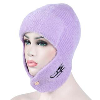 Mũ Len Đi Tuyết Ling, Mũ Trượt Tuyết Ngoài Trời Đan Ấm Áp Không Rụng thumbnail