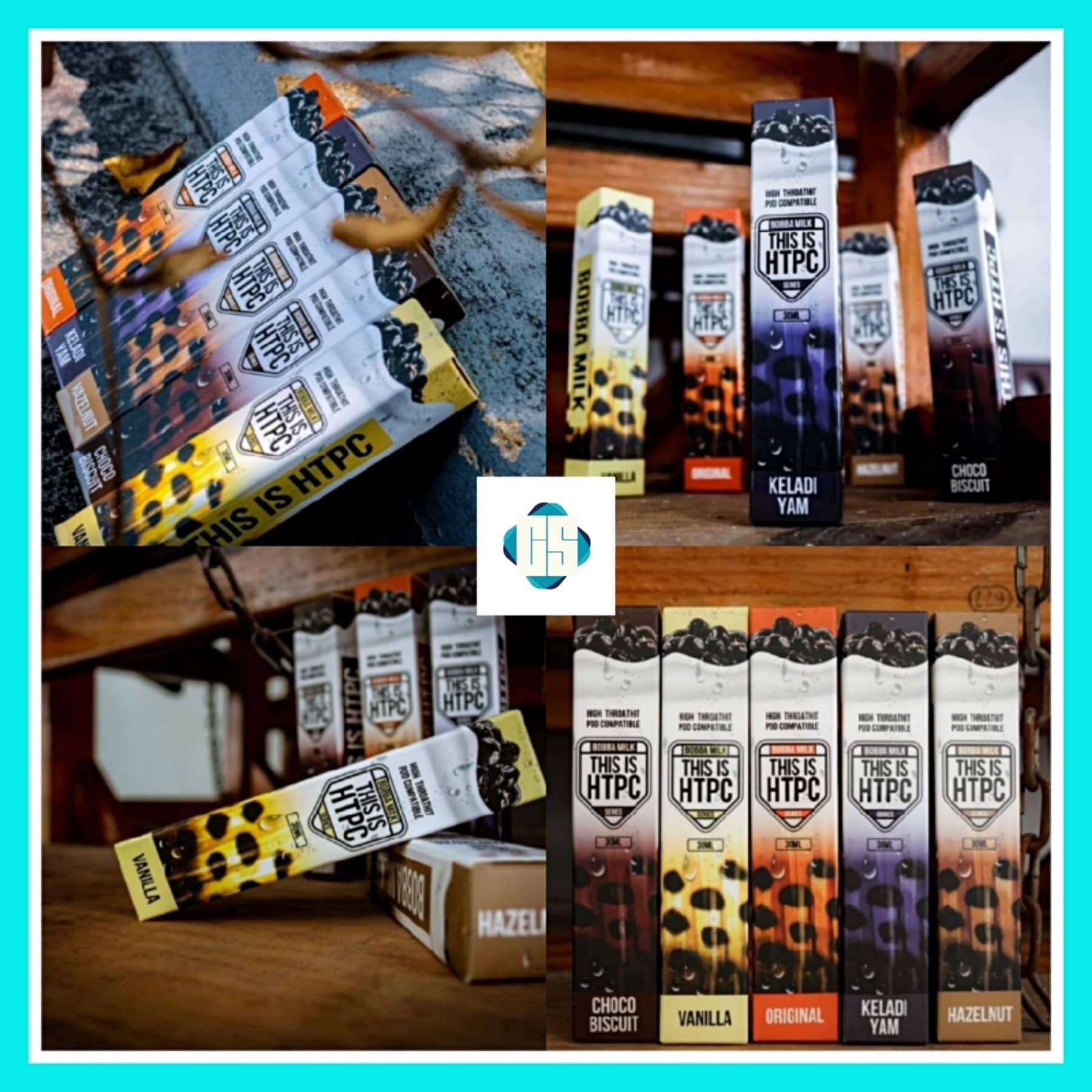 This Is HTPC Bobba Edition Bobba Milk/ Vanilla/ Hazelnut/ Keladi Yam/ Choco Biscuit Pod Mod Vape E-juice 30ML Salt Malaysia