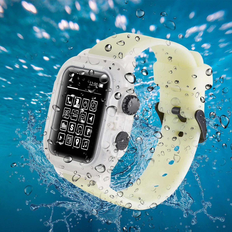 Giá 【44mm】Waterproof Vỏ và dây đeo Đồng Hồ Apple Series 4/Series 5 Ốp Lưng và dây đeo bơi Ngoài Trời chống nước và dây đeo dùng cho các Dòng Đồng Hồ Apple 4/Series 5