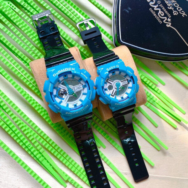 G Shock_Flora Couple Set DUAL TIME Watches For Man And Women Malaysia