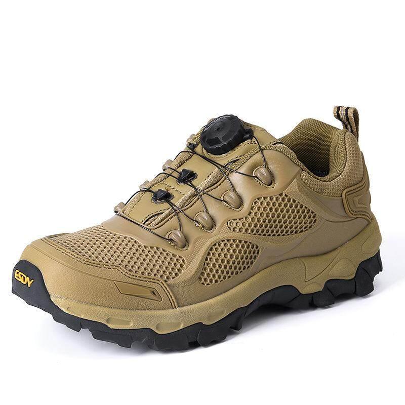 แฟลช Fast Reaction กลางแจ้งรองเท้าปีนเขา Non - Slip สวมใส่ทหารต่ำรองเท้าบูตลุยป่า By Waterlily.