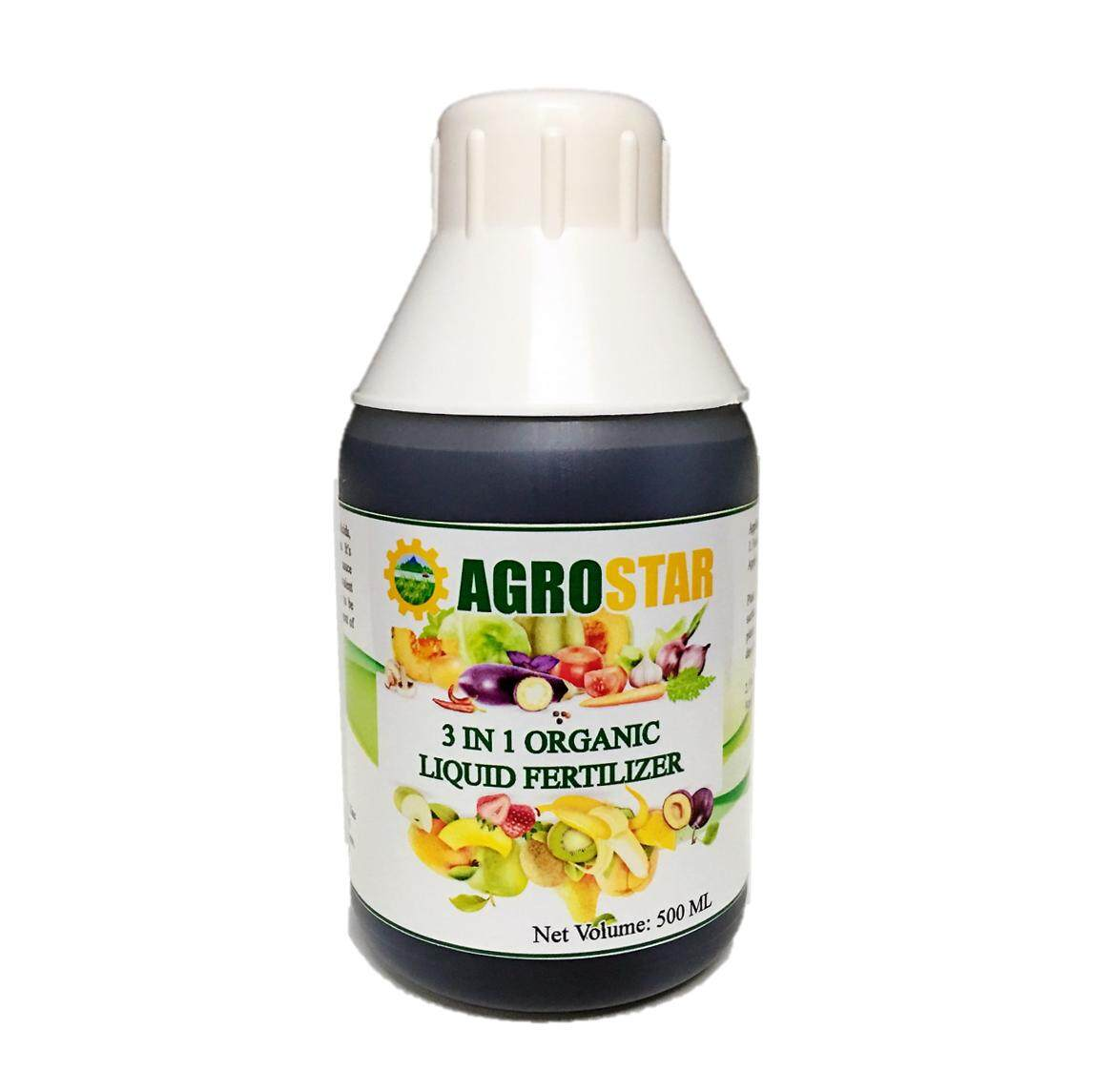 AGROSTAR - 3 in 1 Organic Liquid Fertilizer (Amino Acids, Fulvic Acids,  Chelated micronutrients) suitable for all plants 500ML