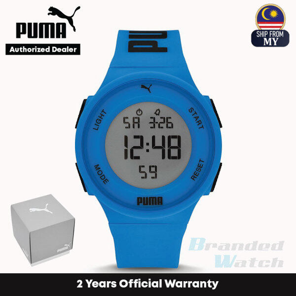 [Official Warranty] Puma P6035 Mens Puma 7 LCD Blue Polyurethane Watch (watch for men / jam tangan lelaki / puma watch for men / men watch) Malaysia