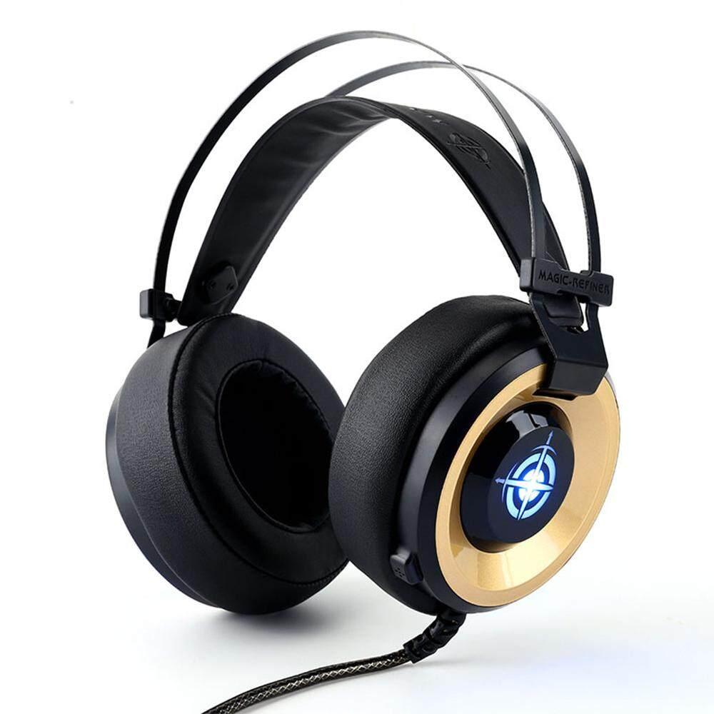 MV1 คอมพิวเตอร์กีฬาหูฟังเล่นเกม 3.5 ซาวด์ 3.5 อินเทอร์เฟซ 3D สเตอริโอรอบทิศทางหูฟังลดเสียงรบกวน