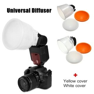 Bộ Khuếch Tán Đèn Flash Đám Mây Thông Dụng, ABS Trắng Với Bộ Nắp Vòm Đèn Flash Khuếch Tán thumbnail