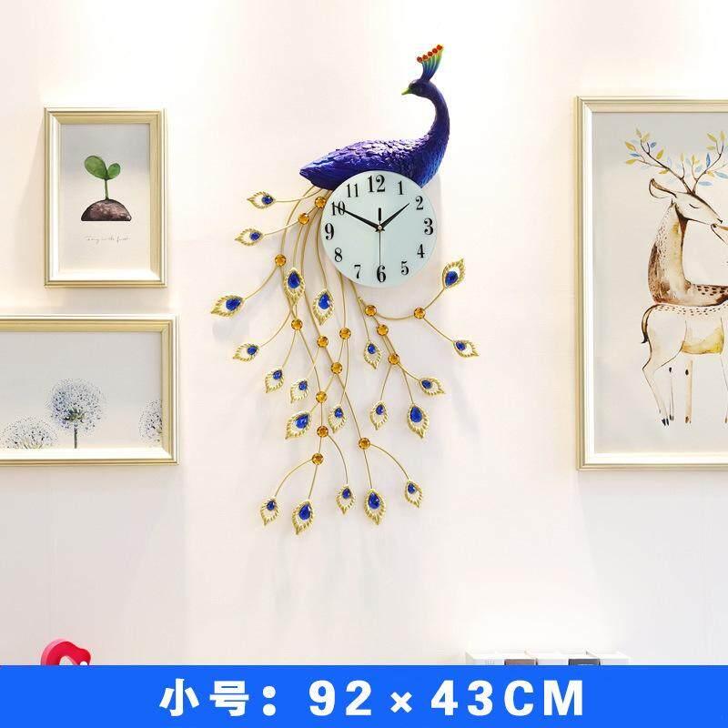 Peacock Wall Clock Living Room Luxury Clocks Nordic Pastoral Silent Wall Clocks Modern Minimalist Phoenix Quartz Clock
