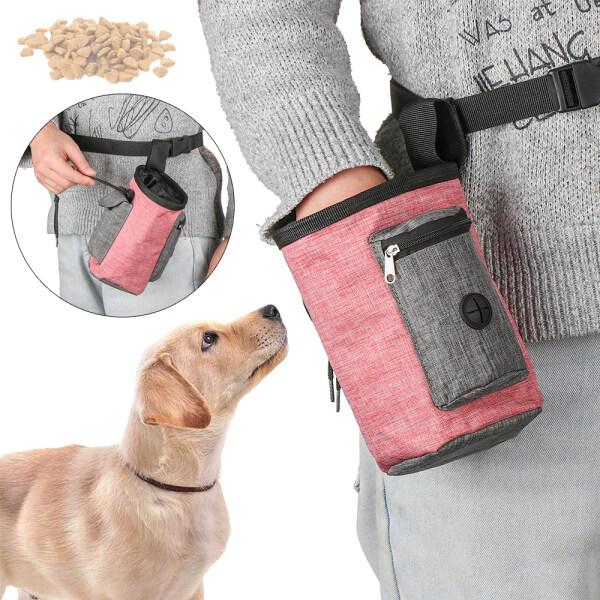GQBN44V3 Cho Vành Đai Hộp Đựng Thức Ăn Cho Chó Dễ Mang Theo Bỏ Túi, Túi Huấn Luyện Chó Con Thú Cưng Con Chó Điều Trị Pouch Thực Phẩm Snack Pouch Haversack Hộp Đựng Thức Ăn Nhẹ