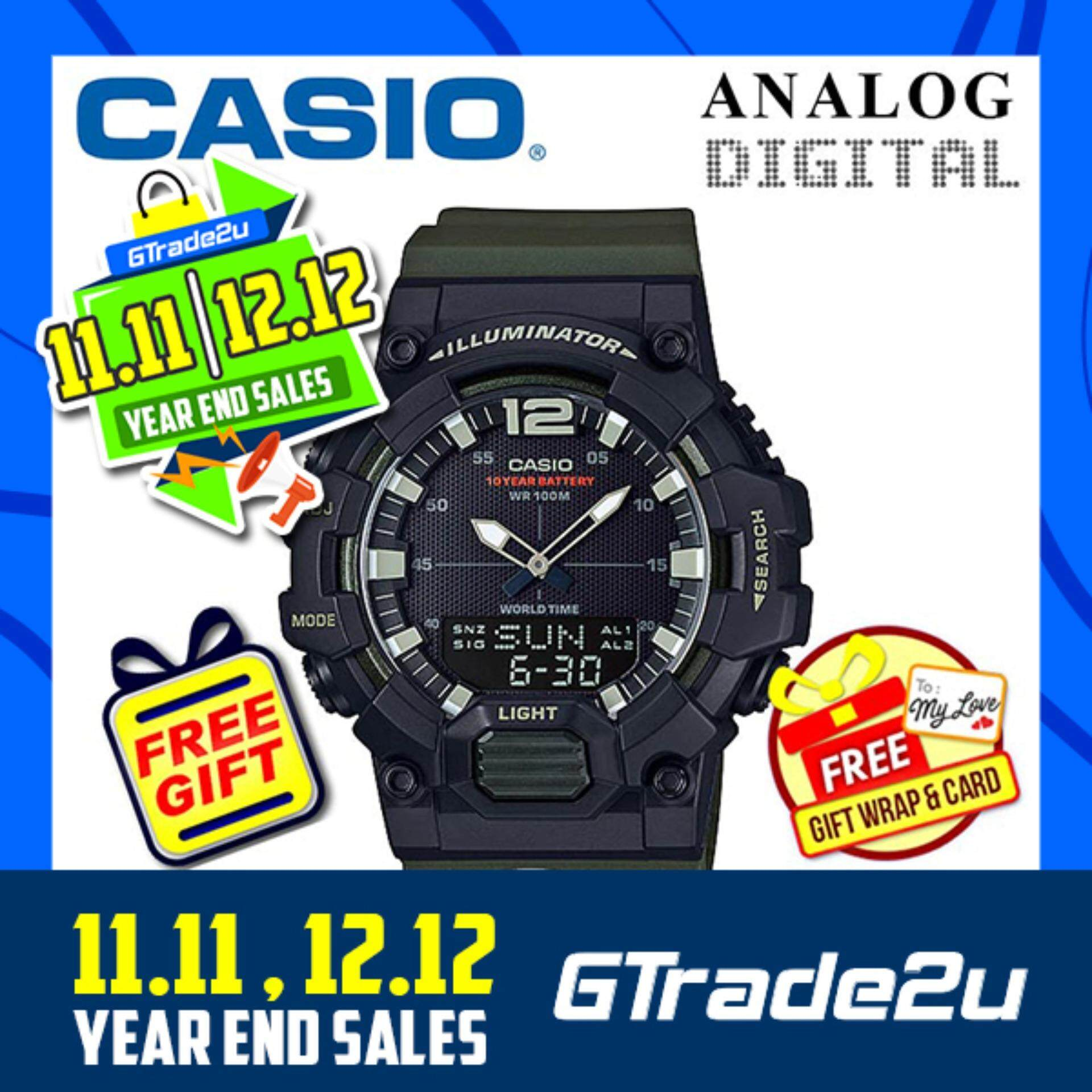 CASIO MEN HDC-700-3A Analog Digital Watch 10-Year Battery Jam Tangan Lelaki/Man Malaysia