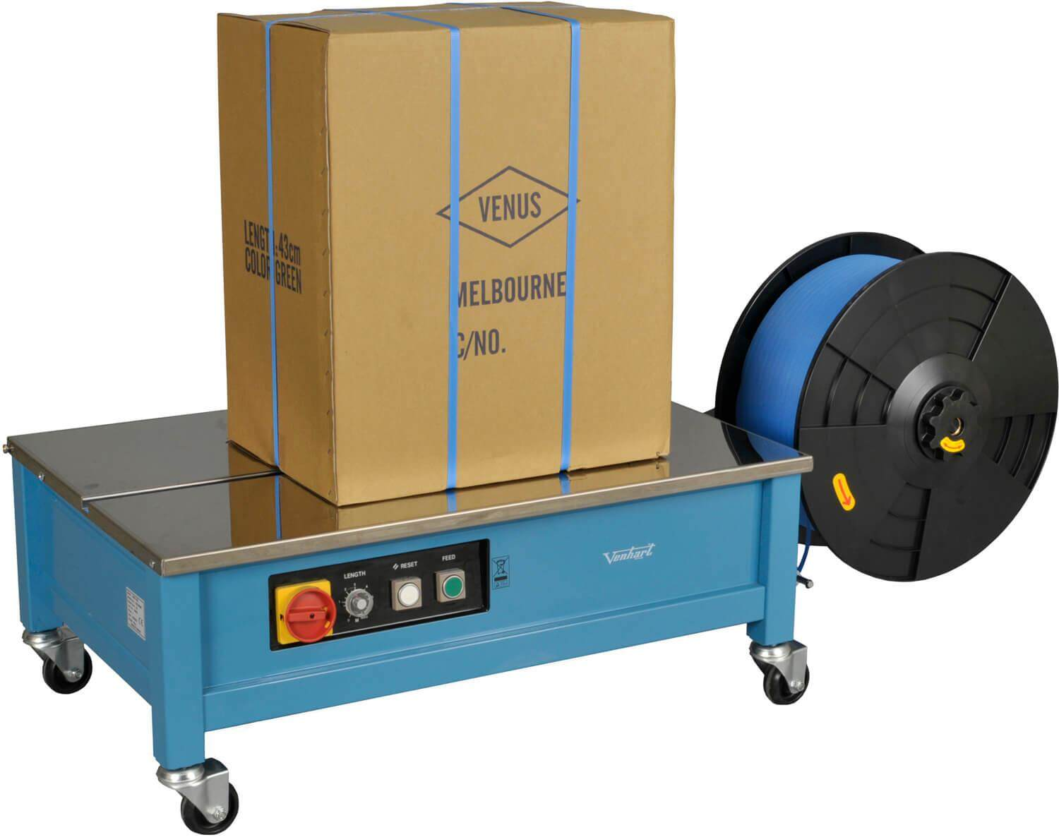 auto packaging package pick packing strapping strap belt line cutter strape tape box machine