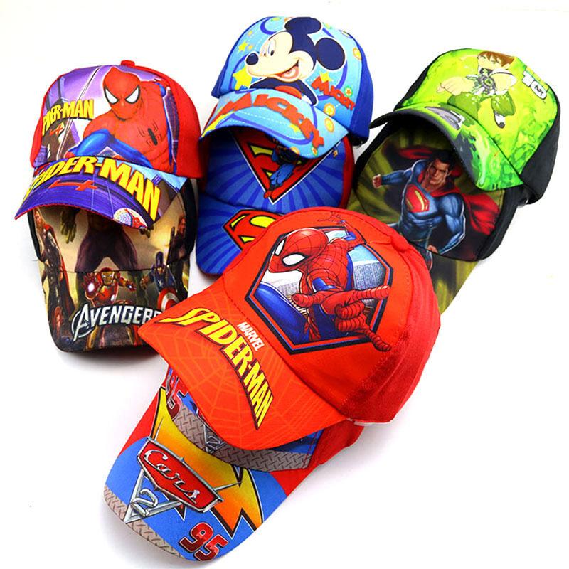 Junyeh หมวกเด็กผู้ชายราคาถูก,หมวกเบสบอลสำหรับทำกิจกรรมกลางแจ้งหมวกกีฬาลายการ์ตูนเหมาะกับเด็กวัย2-8ขวบ.