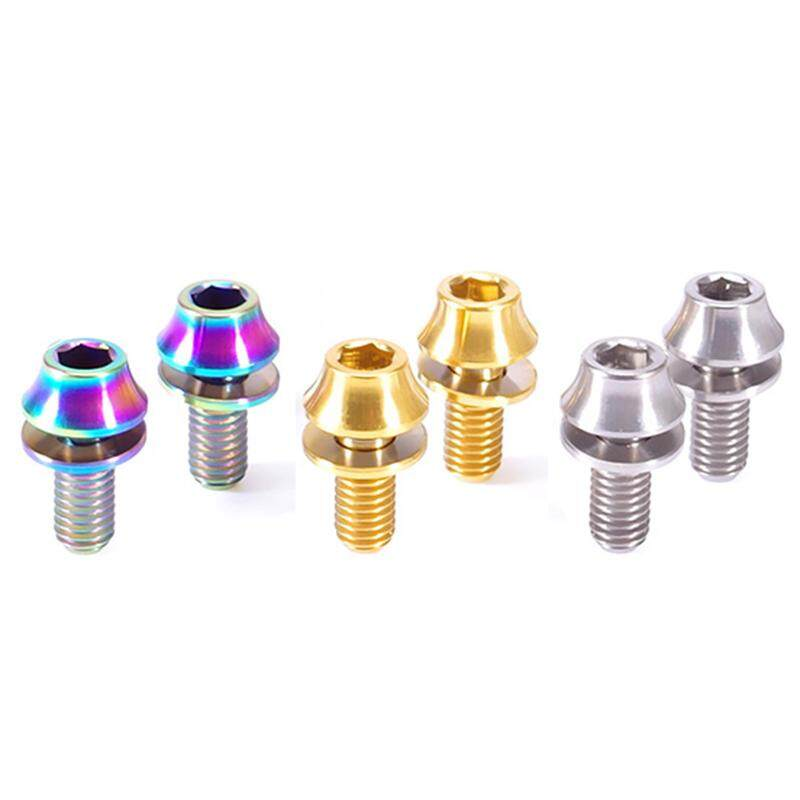 2xScrews With Gaskets Titanium Alloy Bike Bicycle Water Bottle Cage Bolt M5x12mm
