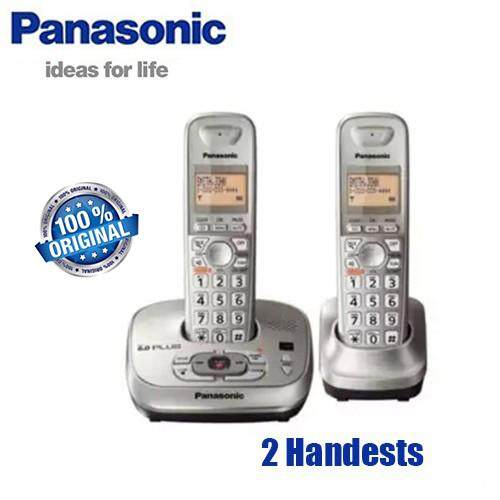 b347373951db 2 Handset Telephone KX-TG4021N DECT 6.0 PLUS Expandable Digital Cordless  Phone with Answering System