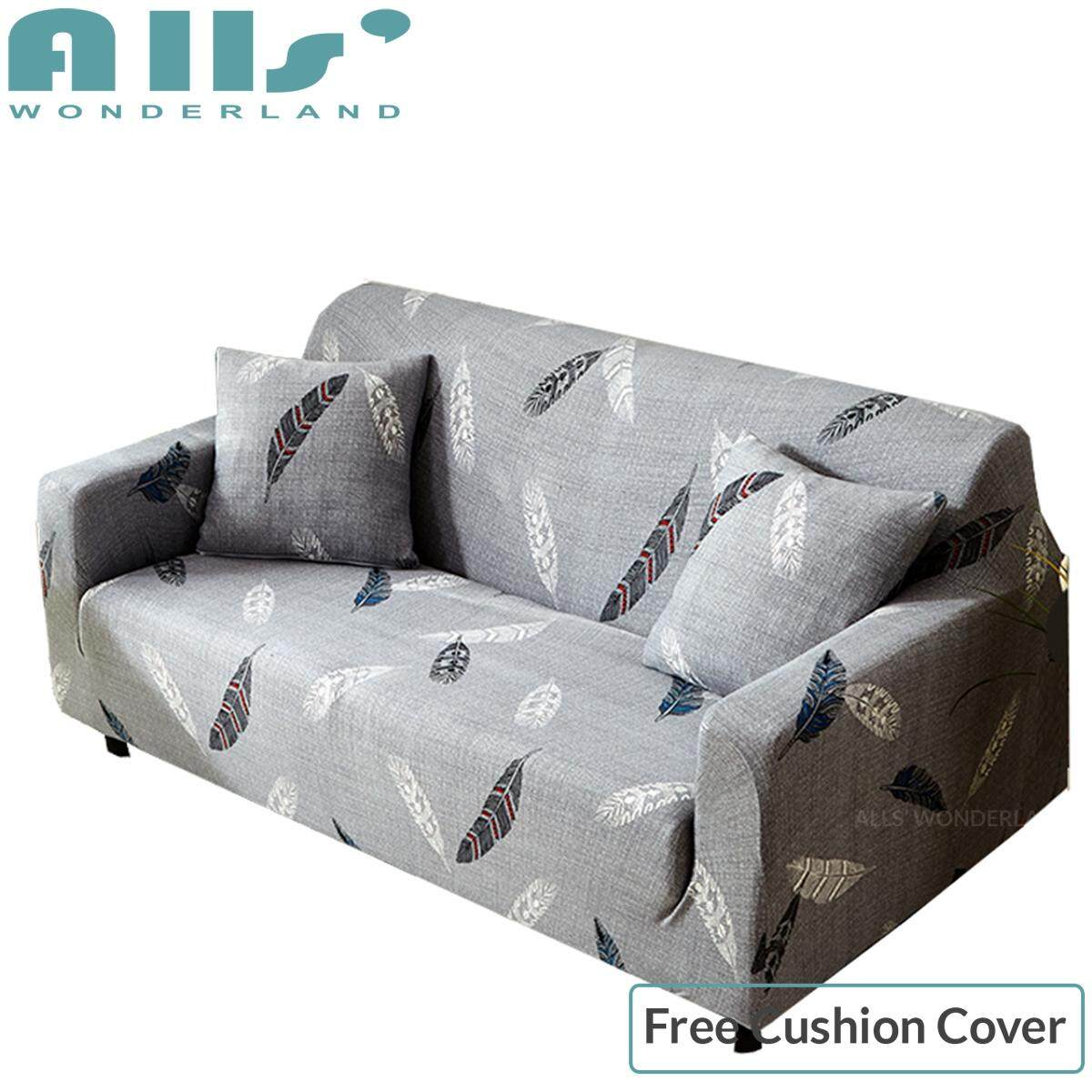 【sofa cover】Fit for Sofa size 140-175cm Modern style sofa cover for living room slipcovers furniture covers L shaped Sofa Cover Polyester Elastic Sofa Covers 1C
