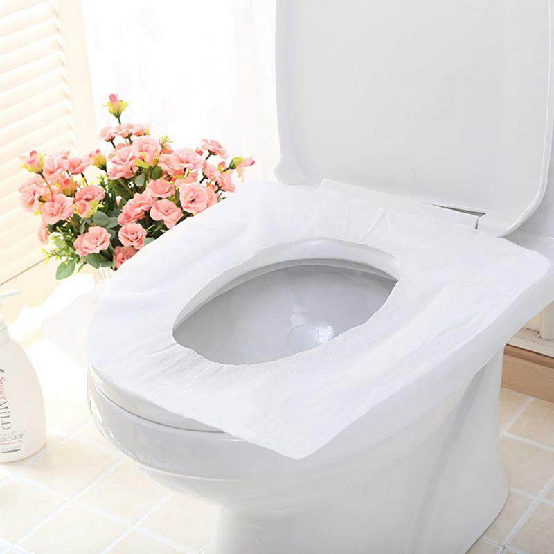 100 Sheets Pocket Size Flushable Disposable Toilet Seat Covers 10 Packs X 10 Sheets Travel Disposable Toleit Seat Cover Mat 100 Waterproof