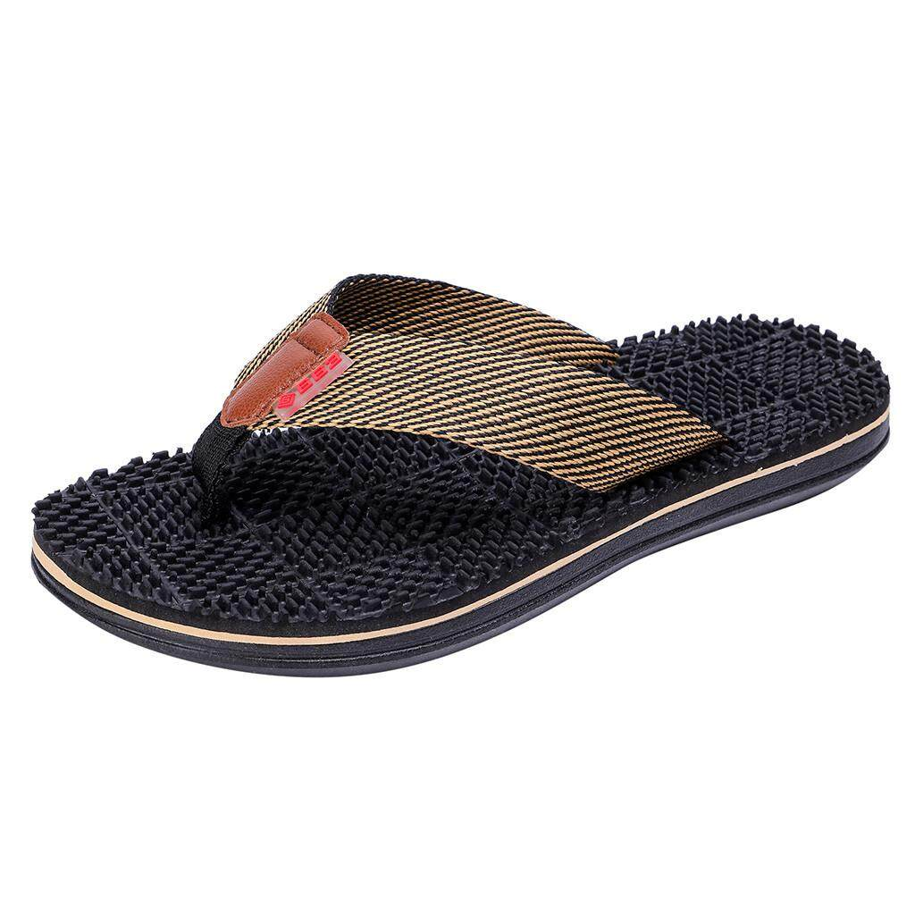 a78e8a1b4838 (Free Shipping) JENESTROTRESMen s Fashion Casual Flat Flip Flops Slippers  Beach Shoes Outdoor Massage Shoes