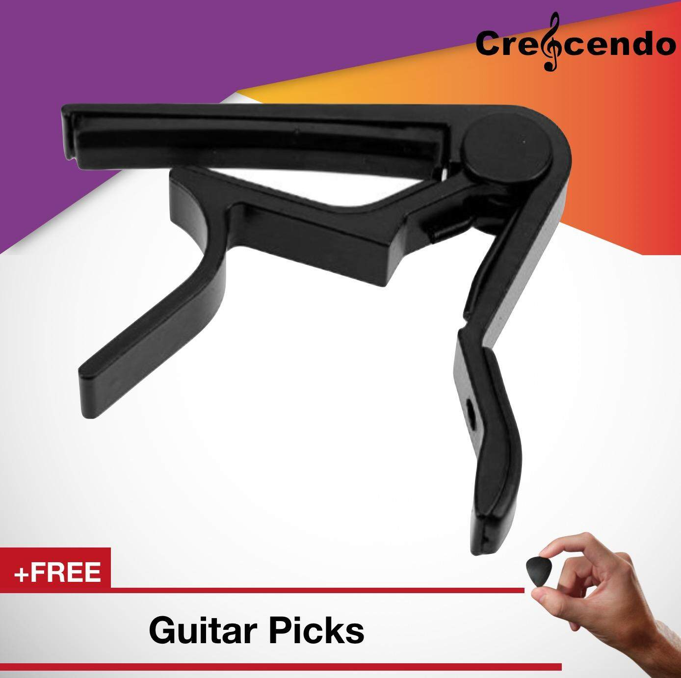 Guitar Capo Clamp For Quick Change Key By Crescendo.