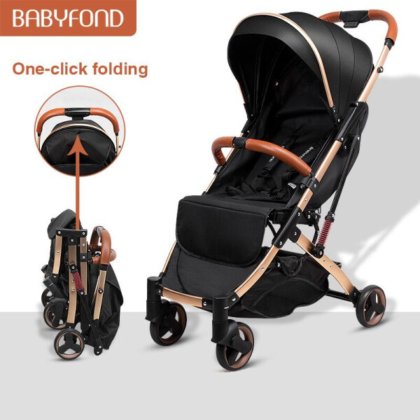 Babyfond 5.8 Kg Light Stroller Portable Pram Jogger Pushcar Stroller Newborn Travel Stroller + Free Gifts Singapore