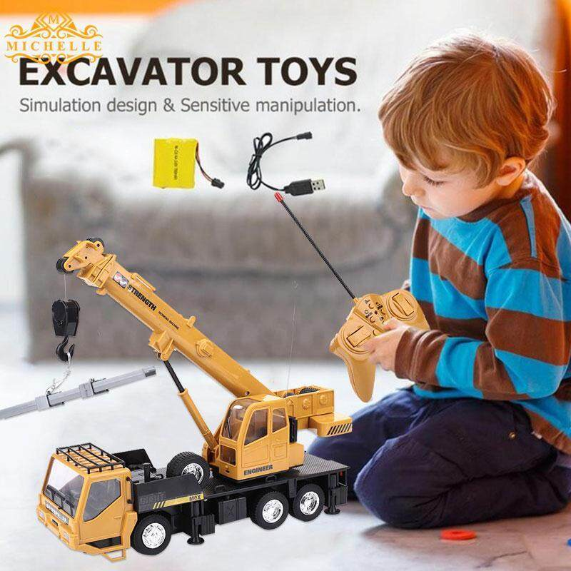 Heavy Construction Truck Rc Crane Truck Lifter Crane Durable Cool 8ch Yellow Relax Decor Collection Cultivate Interest By Michelle Trading.