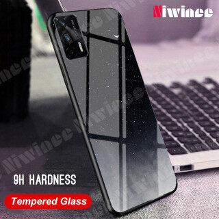 NIWINEE Dành Cho Realme GT 5G Realme GT Neo 5G Ốp Điện Thoại Ốp Kính Cường Lực Star Sky Ốp Lưng Mặt Kính Ốp Chống Sốc TPU Mềm, Chống Trầy Xước thumbnail