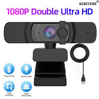 KEBETEME Webcam USB HD, Tự Động Lấy Nét Máy Ảnh Web, 1080P Dành Cho Máy Tính Trực Tuyến Dạy Gọi Video Có Micro thumbnail