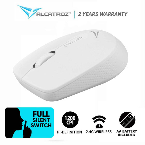 Alcatroz AirMouse 3 Silent And Portable USB 2.4G Wireless Mouse (1200 CPI) Malaysia