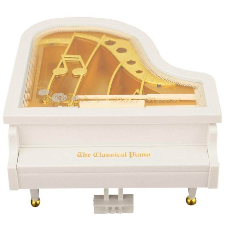 Creative Mini Piano Model Music Box Metal Antique Musical Case Wedding Gift Home Decoration New Year Gifts Music Boxes Malaysia