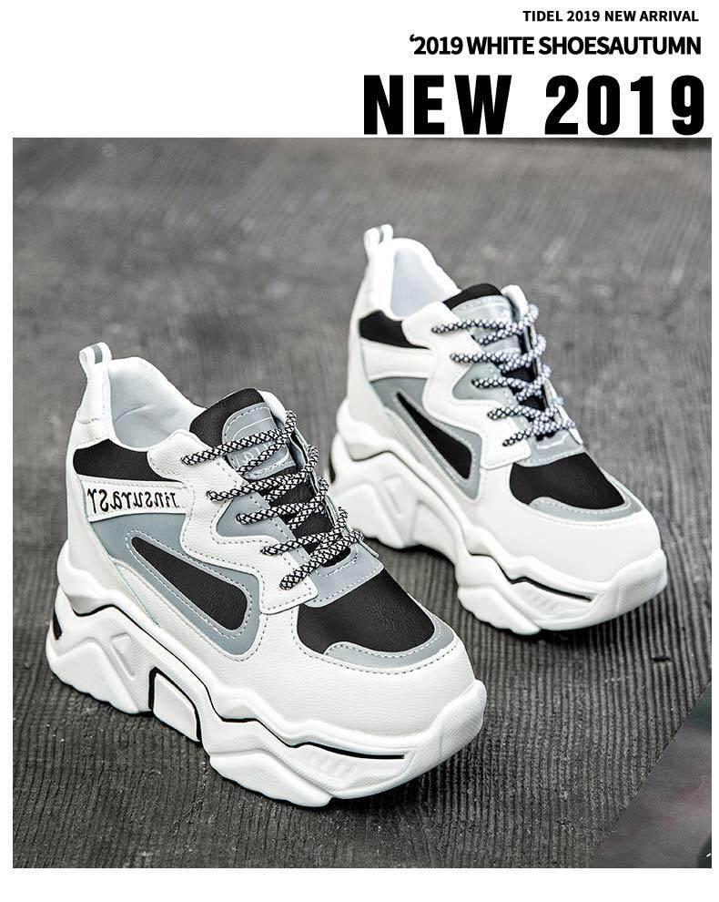 Giá Tiết Kiệm Để Sở Hữu Ngay Giày Chạy Bộ Dành Cho Nữ Giày Da Không Thấm Nước Tăng Giày Phá Cách Thời Trang Phiên Bản Hàn Quốc Của Giày Thể Thao Nhỏ Màu Hồng Tươi