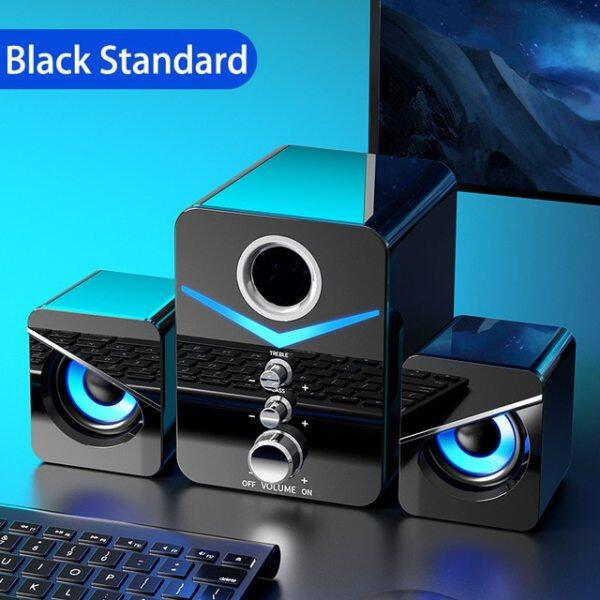 USB Wired Fashion Combination Speaker For Computer Speakers Bass Stereo Music Player Subwoofer Sound Box For PC Phones Sound Bar Malaysia