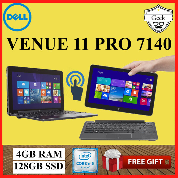 Dell Venue 11 Pro 7140 -Touchscreen - Core M5-5th Gen - 4GB RAM - 128GB SSD - 10.8 Inch - With Keyboard Malaysia