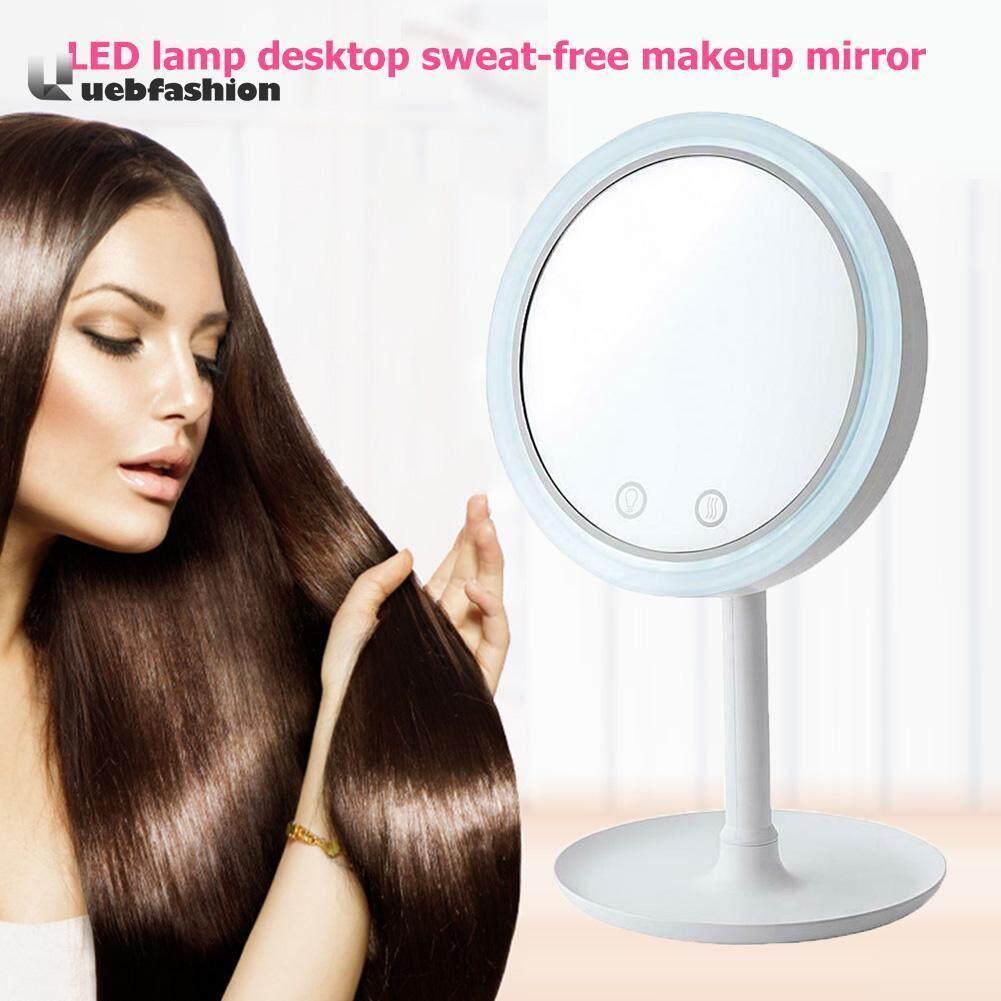 5X Magnifier LED Lamp Desktop Makeup Mirror Beauty Breeze Mirror with Fan