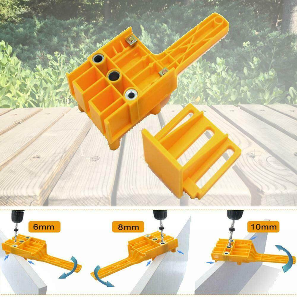 Portable Handheld Woodwork Doweling Jig Drill Guide Wood Dowel Punch Locator
