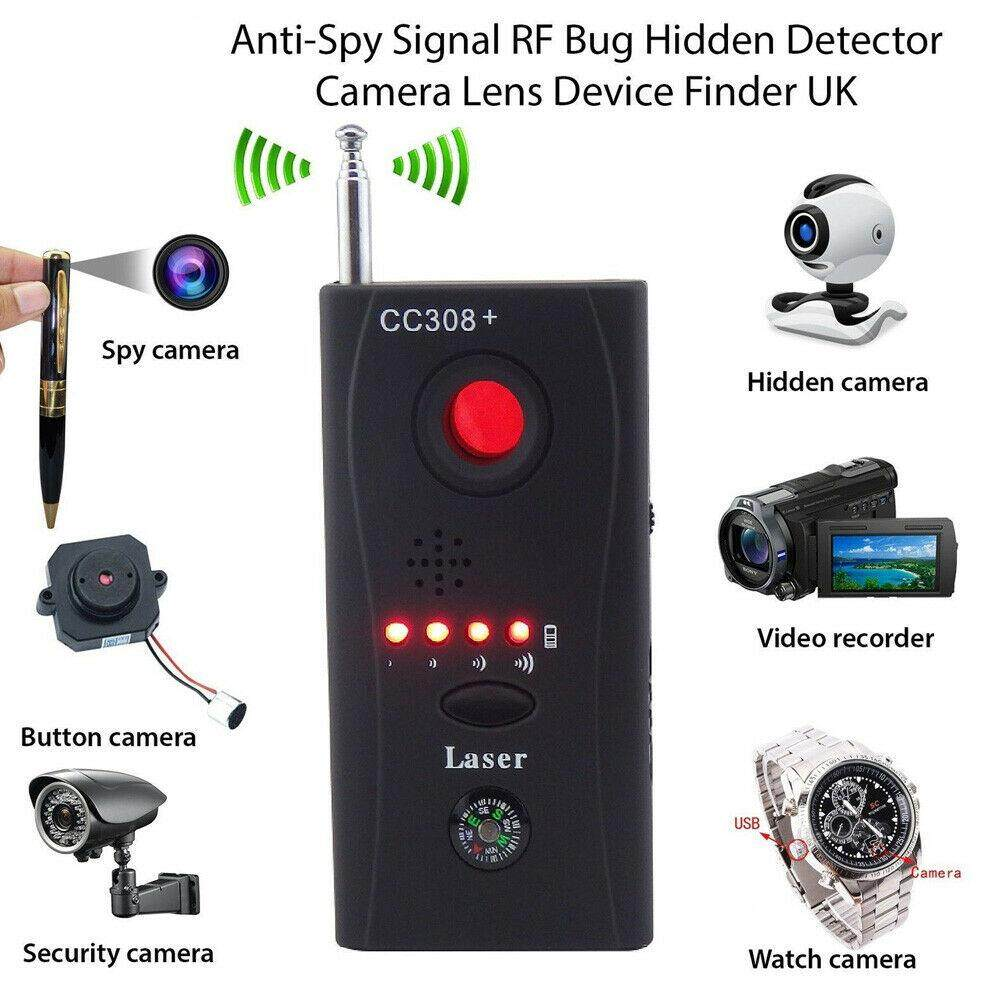Hidden Camera Gsm Audio Bug Detector Anti Spy Finder Gps Signal Lens Rf Tracker By Qldigital Store.