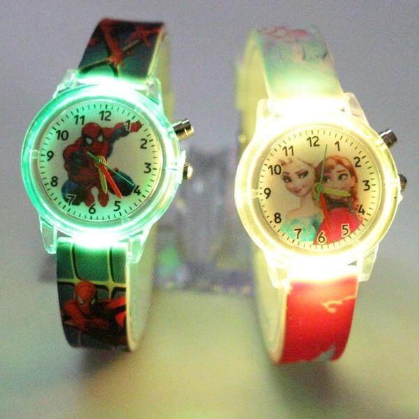 Princess Elsa Children Watches Spiderman Colorful Light Source Boys Watch Girls Kids Party Gift Clock Wrist Relogio Feminino Malaysia