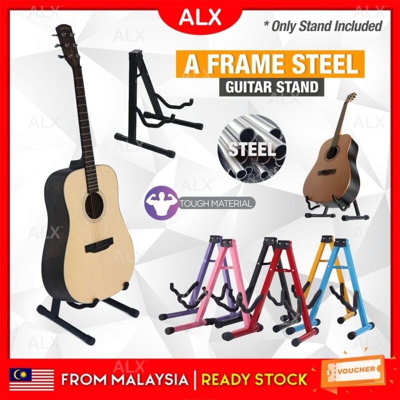 ALX BORONG Malaysia Malaysia A Frame Guitar Stand Floor Square Steel Pipe Acoustic Classical Bass Electric Guitar Accessories Bass Holder Malaysia