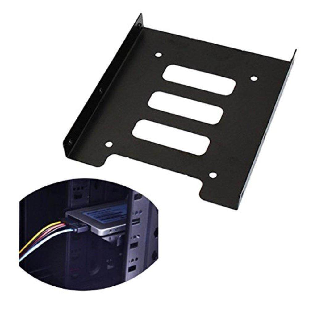 Black 2.5 Inch SSD HDD to 3.5 Inch Metal Mounting Adapter Bracket Dock Hard Drive