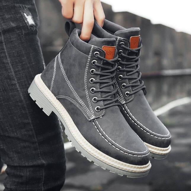 Bốt Martin Phiên Bản Hàn Quốc, Giày Kiểu Anh Cổ Điển Bốt Cổ Cao Bốt Ngắn Nam Mid-Top Giày Của Nam Giới giá rẻ